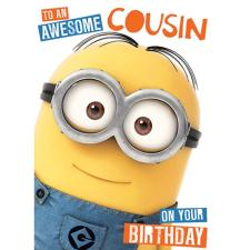 Awesome Cousin Minions Birthday Card