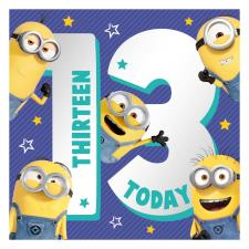 13 Teen Minions 13th Birthday Card