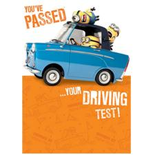Passed Your Driving Test Congratulations Minions Card