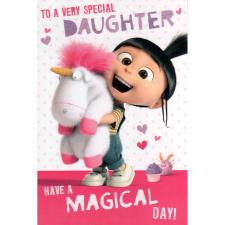 Special Daughter Agnes & Fluffy Unicorn Minions Card