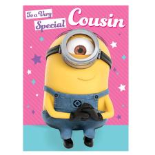 Special Cousin Minions Birthday Card