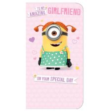 Amazing Girlfriend Minions Birthday Card