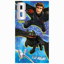 8 Today How to Train your Dragon 8th Birthday Card