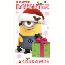 Daughter Minions Christmas Card
