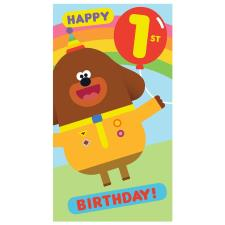 1st Birthday Hey Duggee Birthday Card