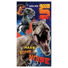 Jurassic World 5th Birthday Card with Sticker Sheet