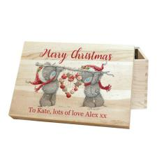 Personalised Me to You Christmas Heart Memory Box