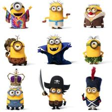 Minions Though Time Greetings Card
