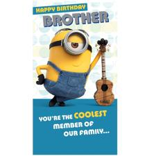 Brother Minions Birthday Card