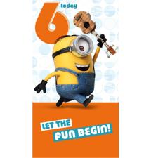 6 Today Minions Birthday Card