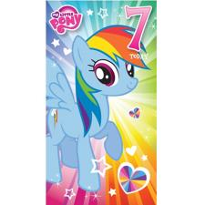 My Little Pony 7 Today 7th Birthday Card
