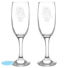 Personalised Me to You Bear Engraved Wedding Couple Flutes