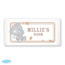 Personalised Tiny Tatty Teddy Me to You Bear Door Plaque