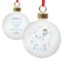 Personalised The Snowman Let it Snow Bauble