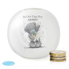 Personalised Me to You Page Boy Usher Wedding Money Jar