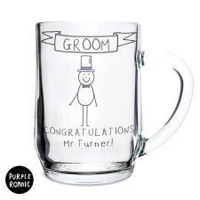 Personalised Purple Ronnie Male Wedding Tankard