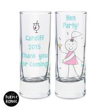 Personalised Purple Ronnie Female Shot Glass