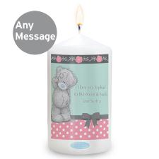Personalised Me to You Bear Pastel Belle Candle