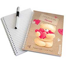 Personalised Forever Friends Love Heart A5 Notebook