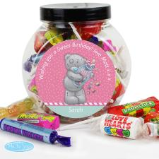 Personalised Me to You Bear Candy Girl 250g Sweet Jar