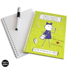Personalised Purple Ronnie A5 Teacher Notebook