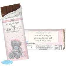 Personalised Me to You Flower Girl Bridesmaid Wedding Chocolate Bar