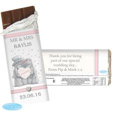 Personalised Me to You Bear Wedding Couple Chocolate Bar