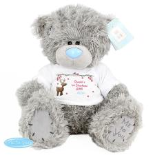 "Personalised 10"" Me to You Bear with Reindeer T-Shirt"