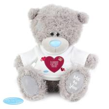 "Personalised 10"" Me to You Bear with Heart T Shirt"