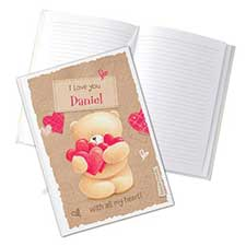 Personalised Forever Friends Heart A5 Hardback Notebook