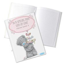 Personalised Me To You Bear Cupcake Hard Back A5 Notebook