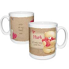 Personalised Forever Friends Love Heart Mug