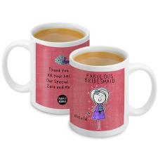 Personalised Purple Ronnie Wedding Mug