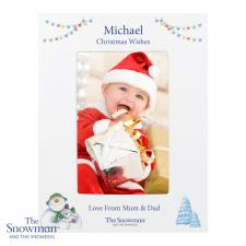 Personalised The Snowman and the Snowdog Photo Frame