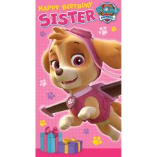 Sister Paw Patrol Birthday Card