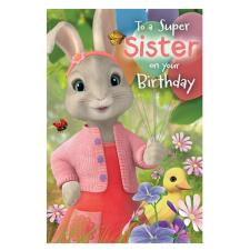 Peter Rabbit Super Sister Birthday Card
