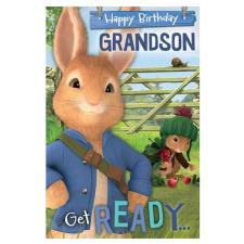 Peter Rabbit Grandson Birthday Card