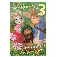Peter Rabbit 3 Today 3rd Birthday Card