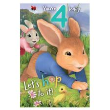 Peter Rabbit 4 Today 4th Birthday Card