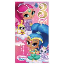 3 Today Shimmer & Shine 3rd Birthday Card