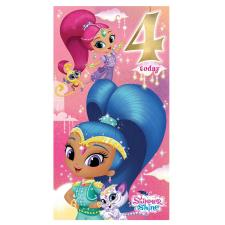 4 Today Shimmer & Shine 4th Birthday Card