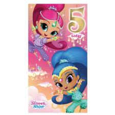5 Today Shimmer & Shine 5th Birthday Card