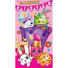 Brilliant Sister Shopkins Birthday Card