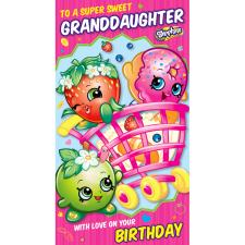 Super Sweet Granddaughter Shopkins Birthday Card
