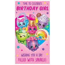 Birthday Girl Shopkins Birthday Card