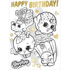 Shopkins Colour In Birthday Card with Poster