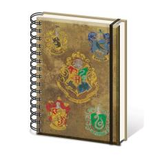 Harry Potter Hogwarts Crests A5 Spiral Notebook