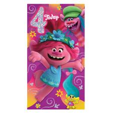 You're 4 Trolls 4th Birthday Card