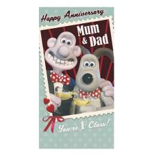 Mum & Dad Anniversary Wallace & Gromit Card