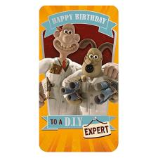 D.I.Y Expert Wallace & Gromit Birthday Card